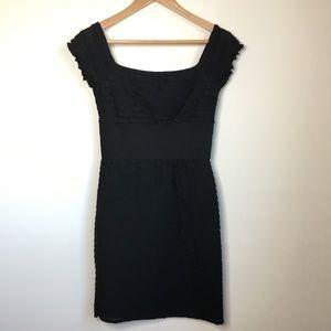 Max Studio Square Neck Ruffle Sheath Dress